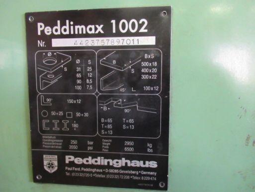 Profilstahlschere Peddinghaus Peddymax 1002 - Stanzmaschine